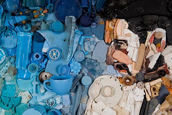 """""""Tess Felix"""" plastic art beach """"San Francisco"""""""