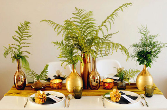 """Hey Look"" gold vases ""table decor"""