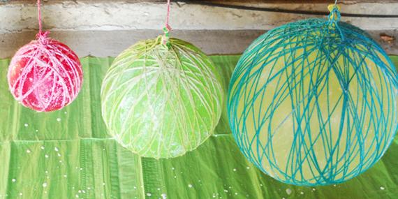 HWTM diy yarn tutorial chandelier