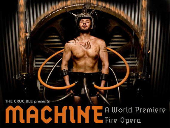 """Crucible"" Oakland ""Fire Opera"" opera fire Machine"