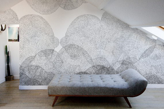 Minakani Clouds wallpaper textiles Paris