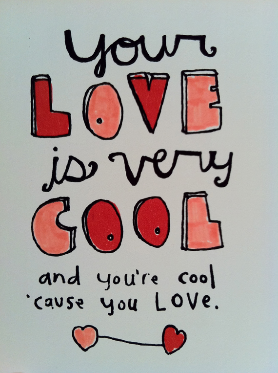 """Everyday Valentine"" ""Trina Spiller"" valentines illustration sayings"