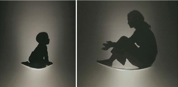 """""""Kumi Yamashita"""" """"light paintings"""" shadow maternity"""