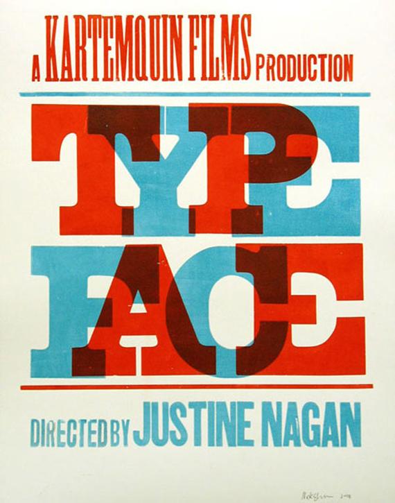 """The Compound Gallery & Studios"" oakland letterpress typeface"