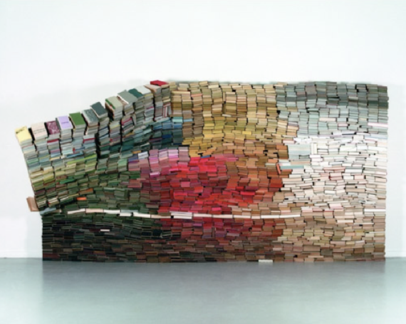 """Anouk Kruithof"" books colors installation art"