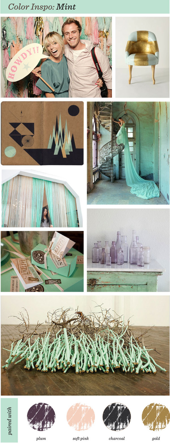 """Color Inspiration"" Mint weddings decor ""Pearl River"" ""Andy Curlowe"""