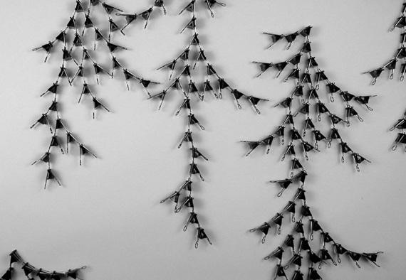 """""""Mitra Fabian"""" art installation paper clips"""