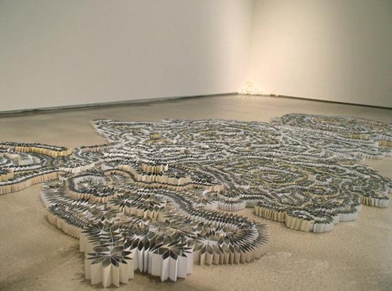 """""""Mitra Fabian"""" art installation blinds"""