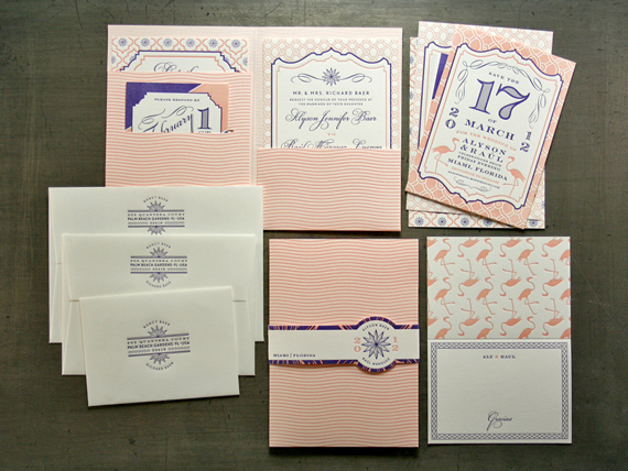 wedding invitations letterpress