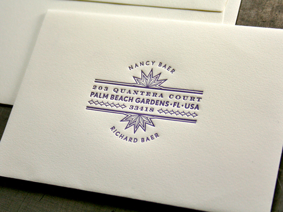 "wedding invitations letterpress ""Beast Pieces"""