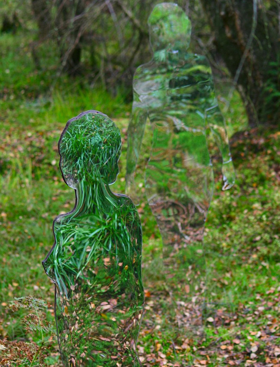 """rob Mulholland"" mirror installation forest art scotland"