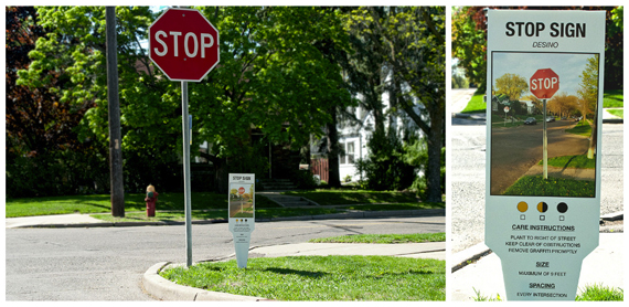 """Carmichael Collective"" ""urban art"" ""plant tags"" stopsign"