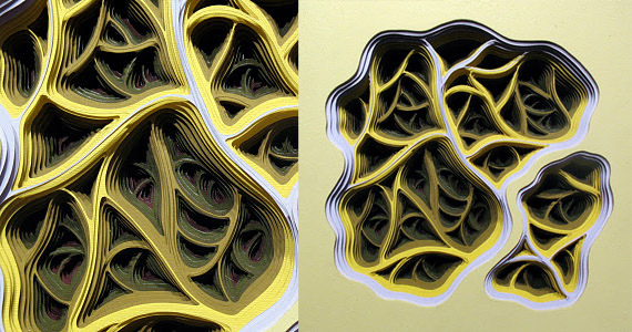 """""""Charles Clary"""" color sculpture paper"""