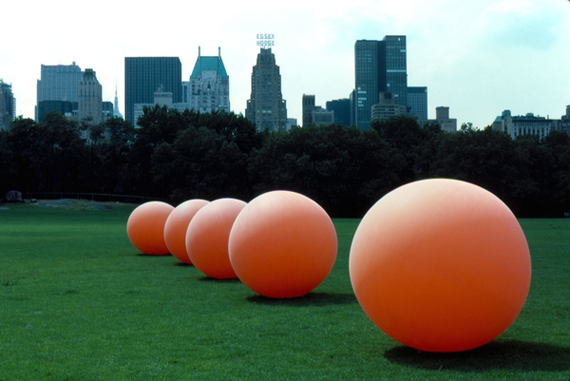 """Stuart Williams"", orange, colors, installation, art, sculpture, public"