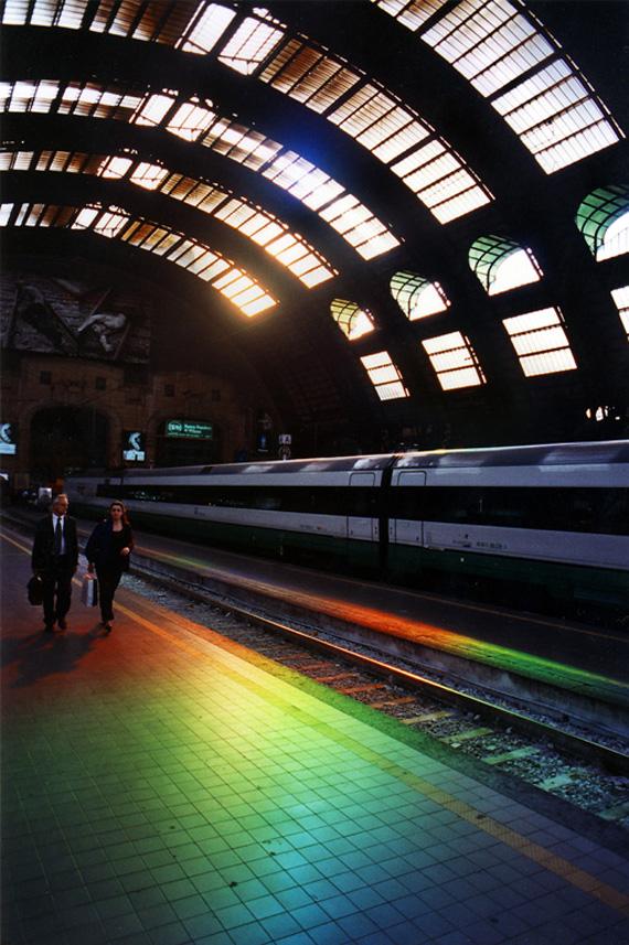 "Milan, light, installation, spectrum, ""Peter Erskine"""