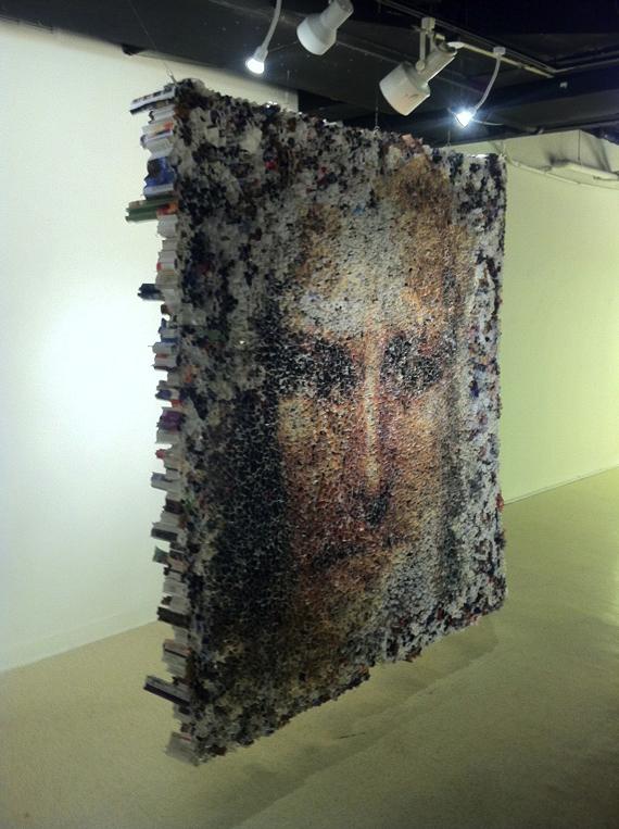 Yun-Woo Choi, paper, sculpture, resin, magazines