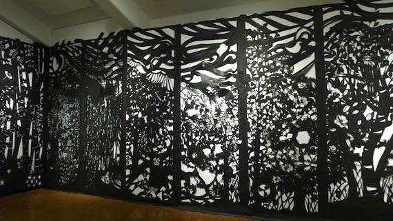 """Katerina Lanfranco"", paper cutouts"