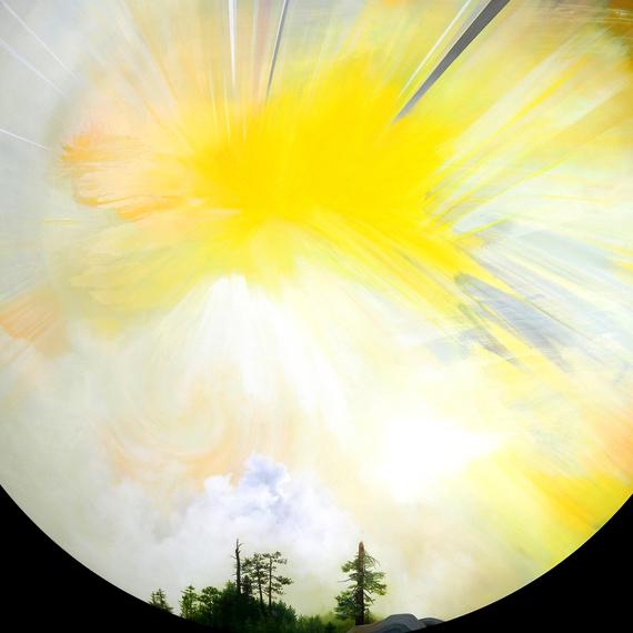 """Yvette Molina"" aluminum, painting, Oakland"